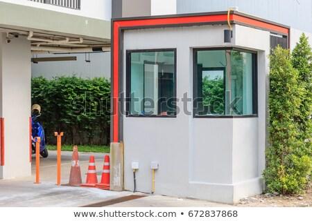 Pequeño cabina casa casa coches fondo Foto stock © bluering