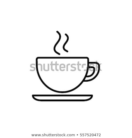 Szerelmespár csészék kávé kezek tart nő Stock fotó © ssuaphoto