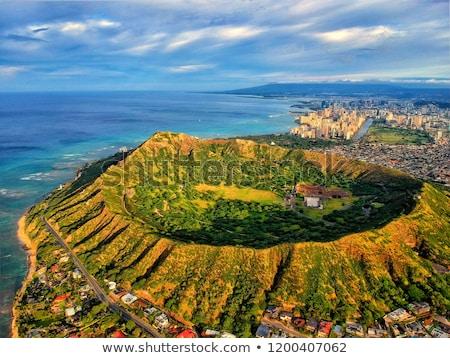 panorama · waikiki · Honolulu · Hawaii · ufuk · çizgisi · park - stok fotoğraf © dirkr