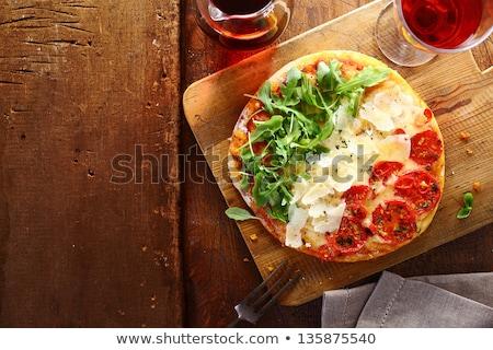 Pizza bandiera Italia italiana alimentare abstract Foto d'archivio © popaukropa