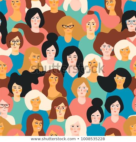 internazionali · festa · della · donna · illustrazione · ragazze · donna - foto d'archivio © robuart