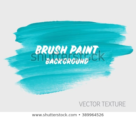 Foto stock: Blue Watercolor Brush Paint Background
