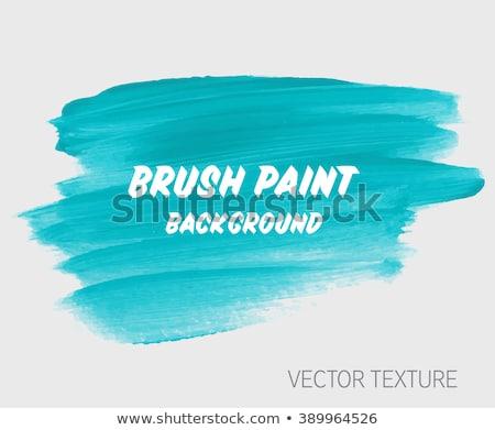 Blauw aquarel borstel verf textuur hand Stockfoto © SArts