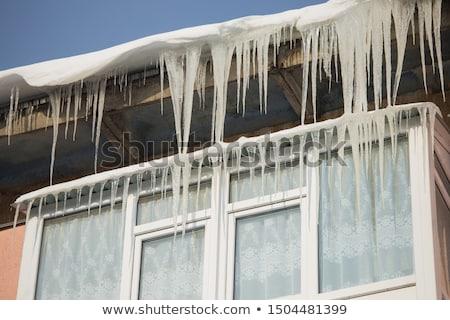 Pericoloso tetto casa grande strade inverno Foto d'archivio © TanaCh