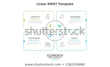 Vector simple SWOT illustration template Stock photo © orson