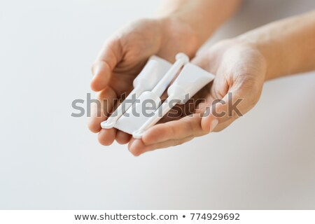 El tüp mikro tıp sağlık Stok fotoğraf © dolgachov