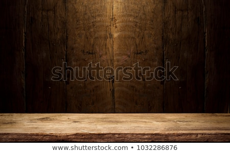 Beer on wooden background Stock photo © Givaga