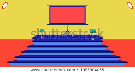 big TV on two holders Stock photo © romvo