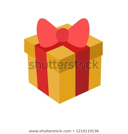 Emoticon with gift Stock photo © yayayoyo