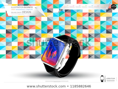 Smart watch in 3D, vector illustration. stock photo © kup1984