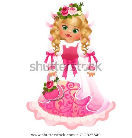 Sevimli bebek kız elbise pembe Stok fotoğraf © Lady-Luck
