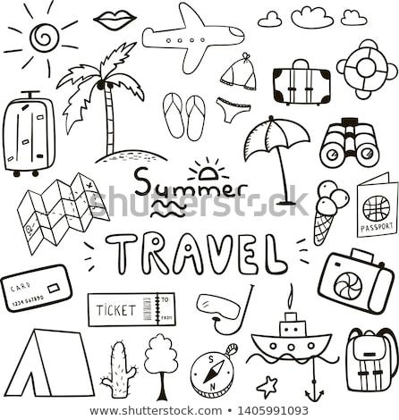 полет · билета · иллюстрация · изолированный · дизайна · фон - Сток-фото © rastudio