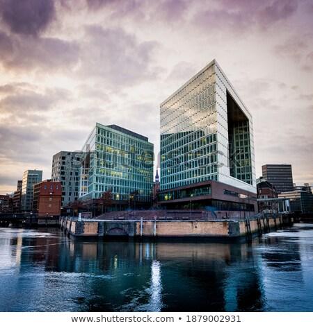Modern office in a skyscraper during sundown Stock photo © alphaspirit