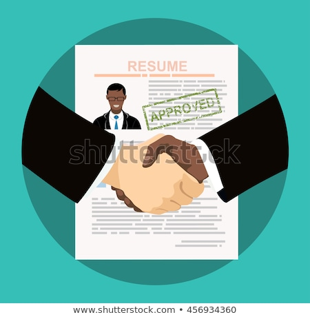 job interview concept interview with the candidate positions flat vector illustration stock photo © makyzz