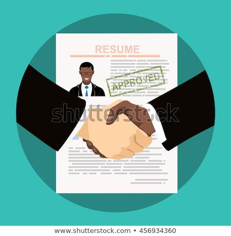 Rozmowa kwalifikacyjna wywiad kandydat pozycje działalności biuro Zdjęcia stock © makyzz