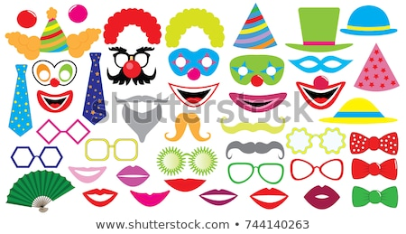 Funny Face Clown Element Illustration Stock photo © lenm