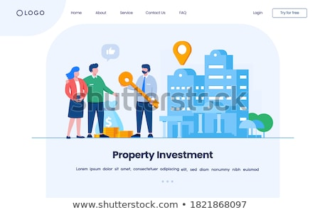 Investment in property. Isometric flat vector landing page template. Stock photo © TarikVision