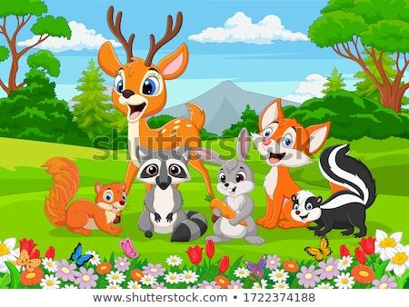 счастливым мало оленей фон смешные животного Сток-фото © Genestro