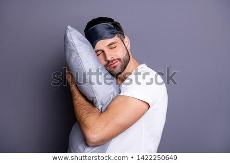 man sleeping with sleep mask stock photo © andreypopov