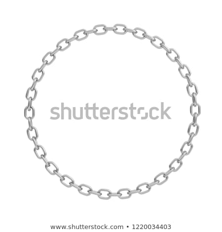 Silver chain in shape of circle 3D Stock photo © djmilic