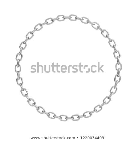 acél · lánc · 3D · renderelt · kép · illusztráció · izolált - stock fotó © djmilic