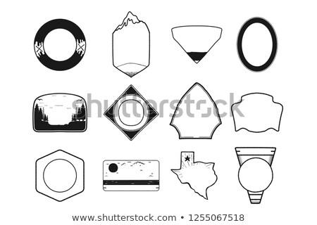 Zestaw czarny kemping odznakę Texas Zdjęcia stock © JeksonGraphics