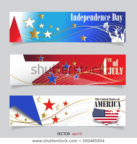 Folder with flag of united states of america Stock photo © MikhailMishchenko