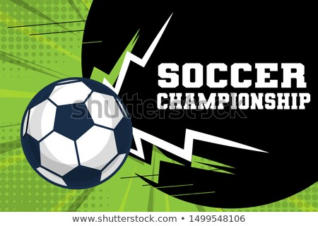 Soccer Symbols Vector Banner in Cartoon Style Stock photo © robuart