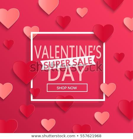 Valentijnsdag harten verkoop ontwerp ontwerpsjabloon Stockfoto © ivaleksa