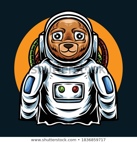 Cartoon Angry Spaceman Bear Stock photo © cthoman