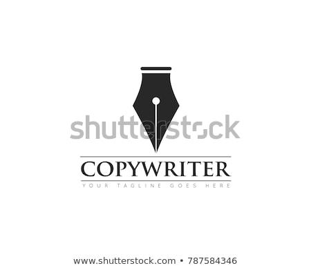 Mürekkep kalem logo vektör simge ikon Stok fotoğraf © blaskorizov