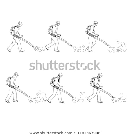 Gardener With Leaf Blower Walk Sequence Drawing Stock photo © patrimonio
