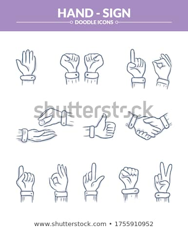 Finger swipe gestures hand drawn outline doodle icon. Stock photo © RAStudio