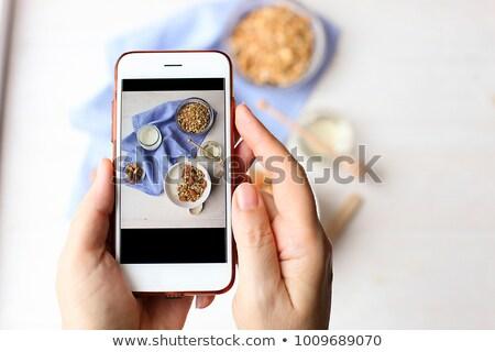 Mulher caseiro receita preparado Foto stock © Kzenon