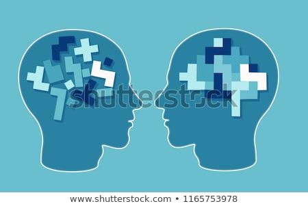 Autizmus elme puzzle autista fejlesztés zűrzavar Stock fotó © Lightsource