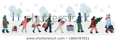inverno · roupa · coleção · sapatos · desenho · gráfico - foto stock © olllikeballoon