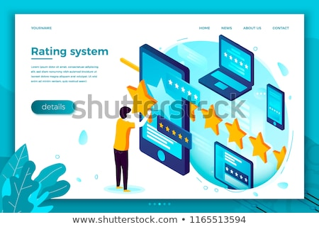 Content rating system concept landing page. Stock photo © RAStudio