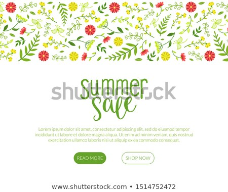 Tavasz vásár virágzó virágok háló oldalak Stock fotó © robuart