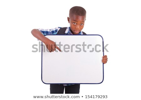 A south african boy on school banner Stock photo © bluering