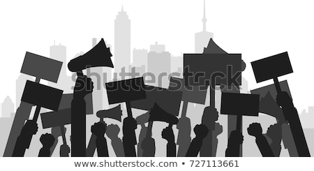 People yelling and marching at protest Stock photo © colematt