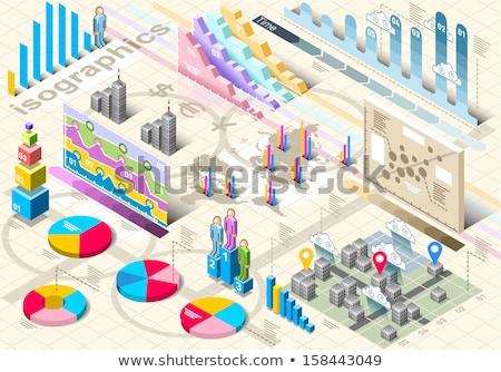 vector · isometrische · voetganger · brug · voetbrug · snelweg - stockfoto © netkov1