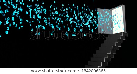 Staircase Opened Door Data Stock photo © limbi007