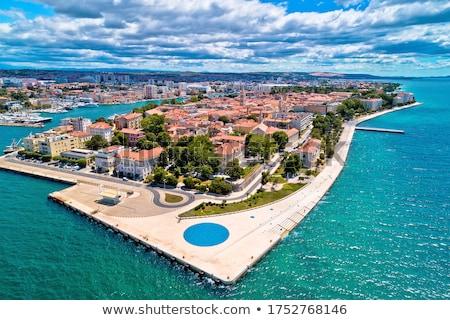 Historic Zadar tower and Kalelarga street view Stock photo © xbrchx