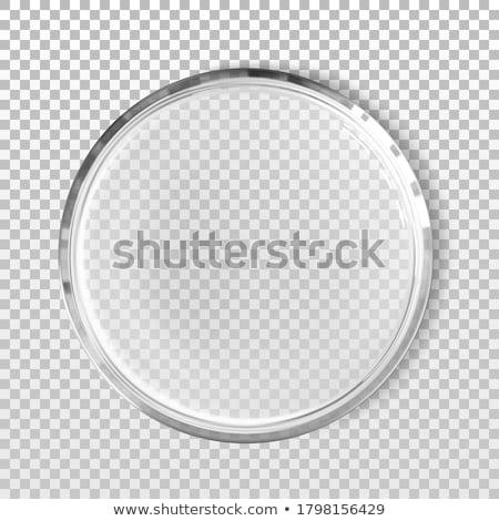 Realistic Empty Medicine Glass Petri Dish Vector Stockfoto © pikepicture