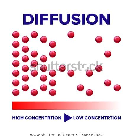 wetenschap · moleculen · illustratie · Blauw · atoom · deeltjes - stockfoto © pikepicture
