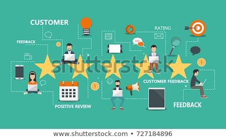 Geribesleme müşteri hizmetleri örnek adam oturma Stok fotoğraf © makyzz