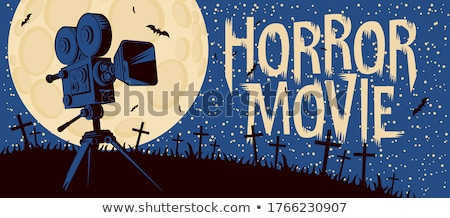 Stock photo: Online cinema art movie poster design