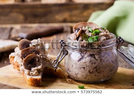 キノコ ガラス jarファイル 装飾された 新鮮な 食品 ストックフォト © Alex9500