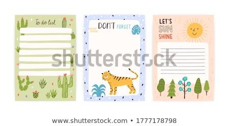 Tigris jegyzet sablon illusztráció textúra háttér Stock fotó © bluering