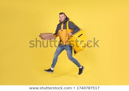 Geel kleding vak ingesteld jongen bericht Stockfoto © toyotoyo